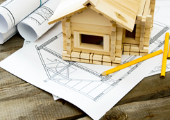 Construction Drawings and Wooden House